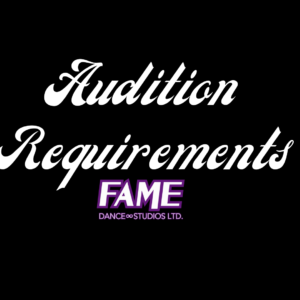 Audition Requirements